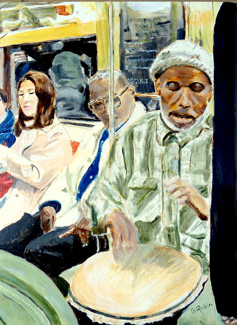 Subway Entertainer by Gary Rubin
