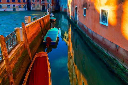 Venice Waterway  by Cindy Jenkins