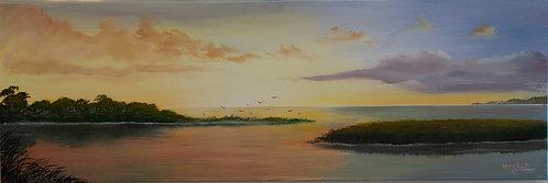 Marsh Sunset by Ed Mosher