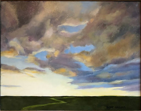 Marsh Afternoon Clouds by Depy Adams