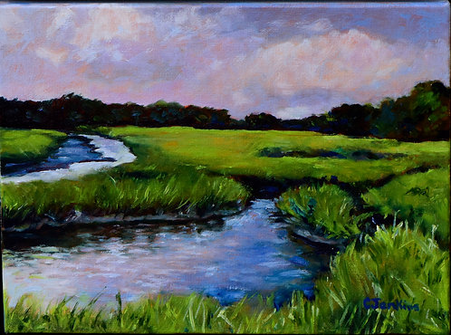 Cloudy Day on the Marsh by Cindy Jenkins