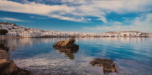 Mykonos Harbor by Karen Bowden