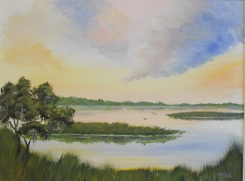 Colorful Cloud Marsh by Ed Mosher
