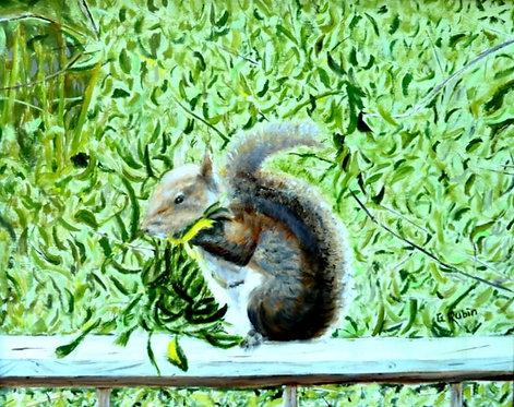 Back Porch Visitor by Gary Rubin