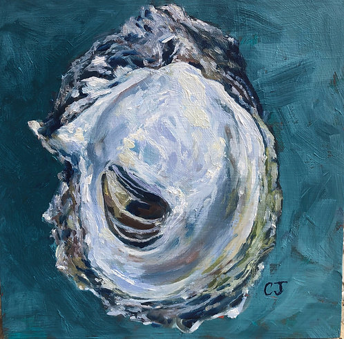 Teal Oyster I by Cindy Jenkins