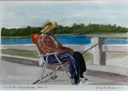 Ola on the Fishing Bridge by Barbara Hopkins