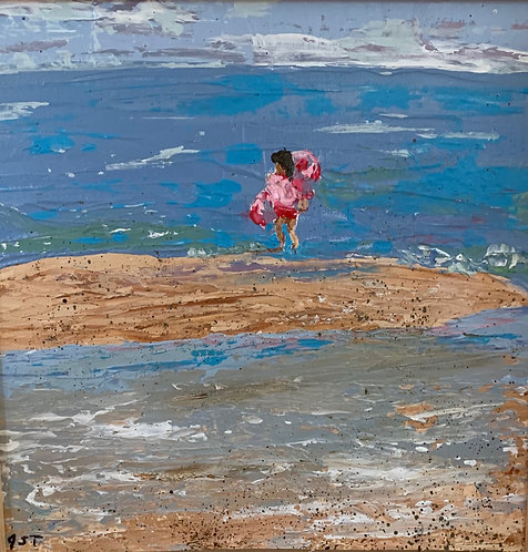 Tiny Pink Surfer by Jeanne Tennyson