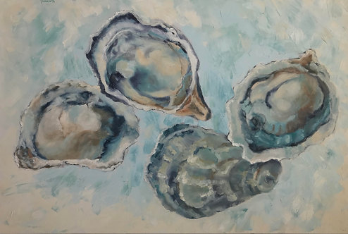 Shucked Oysters by Victoria Germond