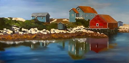 Reflections of Peggy's Cove by Ginger Bender