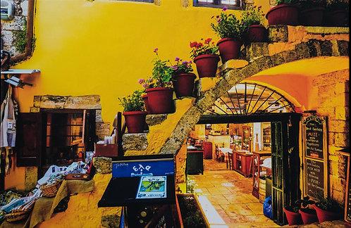Crete Taverna by Karen Bowden
