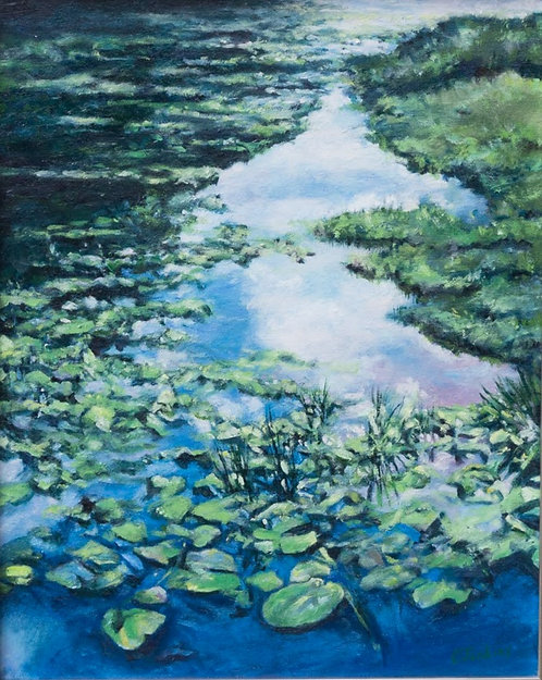 Waterlilies in the Clouds  by Cindy Jenkins
