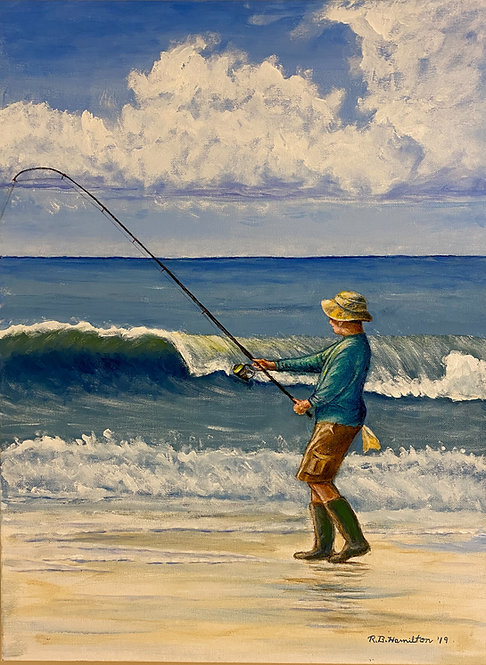 Surf Fishing by Dick Hamilton