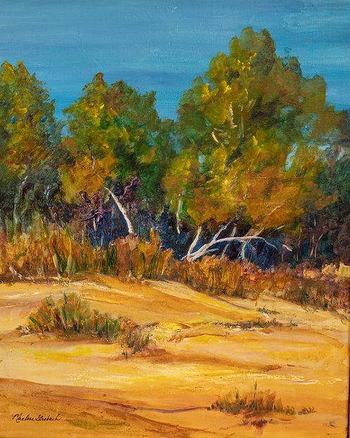 Trees on the Dune by Marlene Strobach