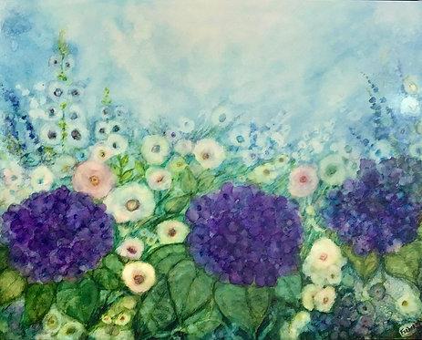 Rain in My Garden by Sherry Ferber