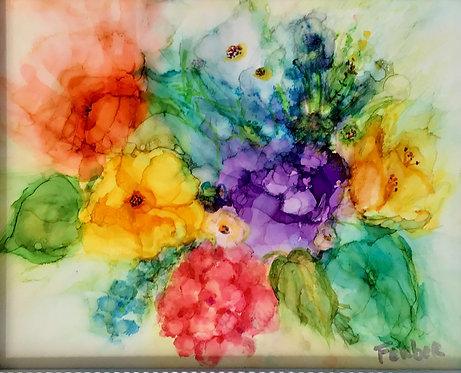 Happy Flowers by Sherry Ferber