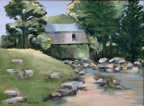 Vermont Covered Bridge by Janet Kolar