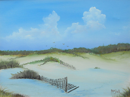 Dune Fence by Ed Mosher
