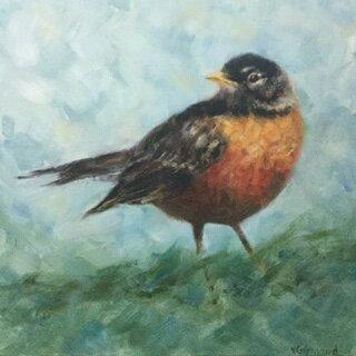Spring Robin by Victoria Germond