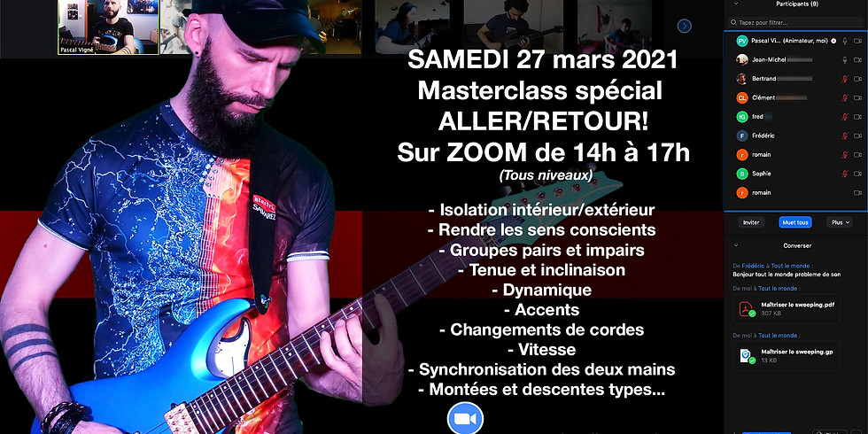 Masterclass spécial ALLER/RETOUR samedi 27 mars 2021!