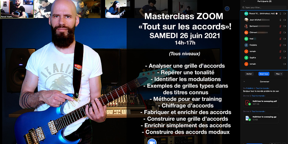 """Masterclass """"TOUT sur les accords"""" samedi 26 juin 2021!"""