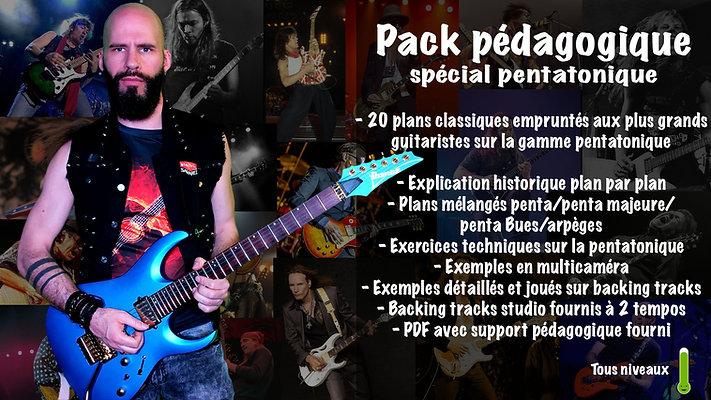 Pack spécial pentatonique! 20 plans incontournables