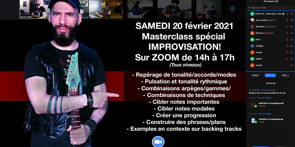 Masterclass spécial IMPROVISATION samedi 20 février 2021!