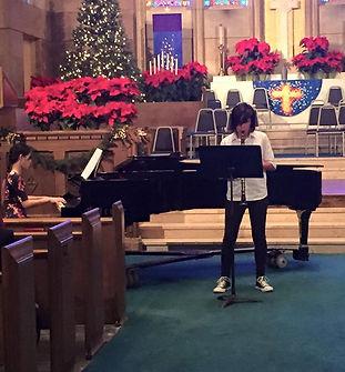 piano concert in a church