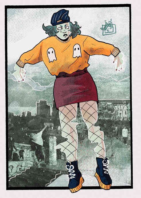 SHE WAS A SKATER GHOUL