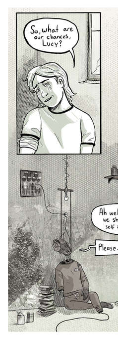 Page from Platform Comic's 10K Competition. Theme prompt of 'AI HORROR' (2/2)