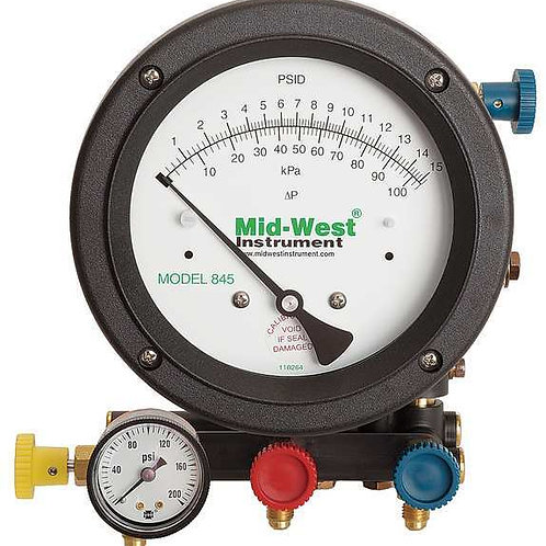 Midwest Back flow kit 845-5 and calibration report