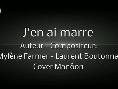 Cover Manôon J'en ai marre - Chanteuse Française 2021 - Pop
