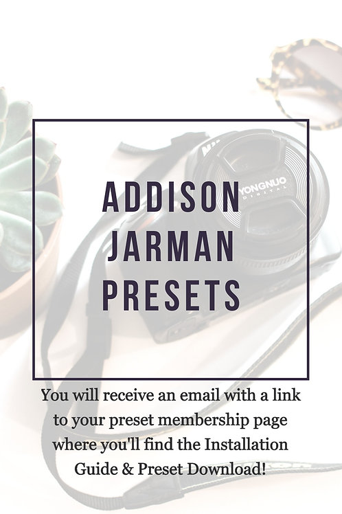 The Addison Jarman Presets - Lifestyle Pack | Download Link & PDF Install Guide