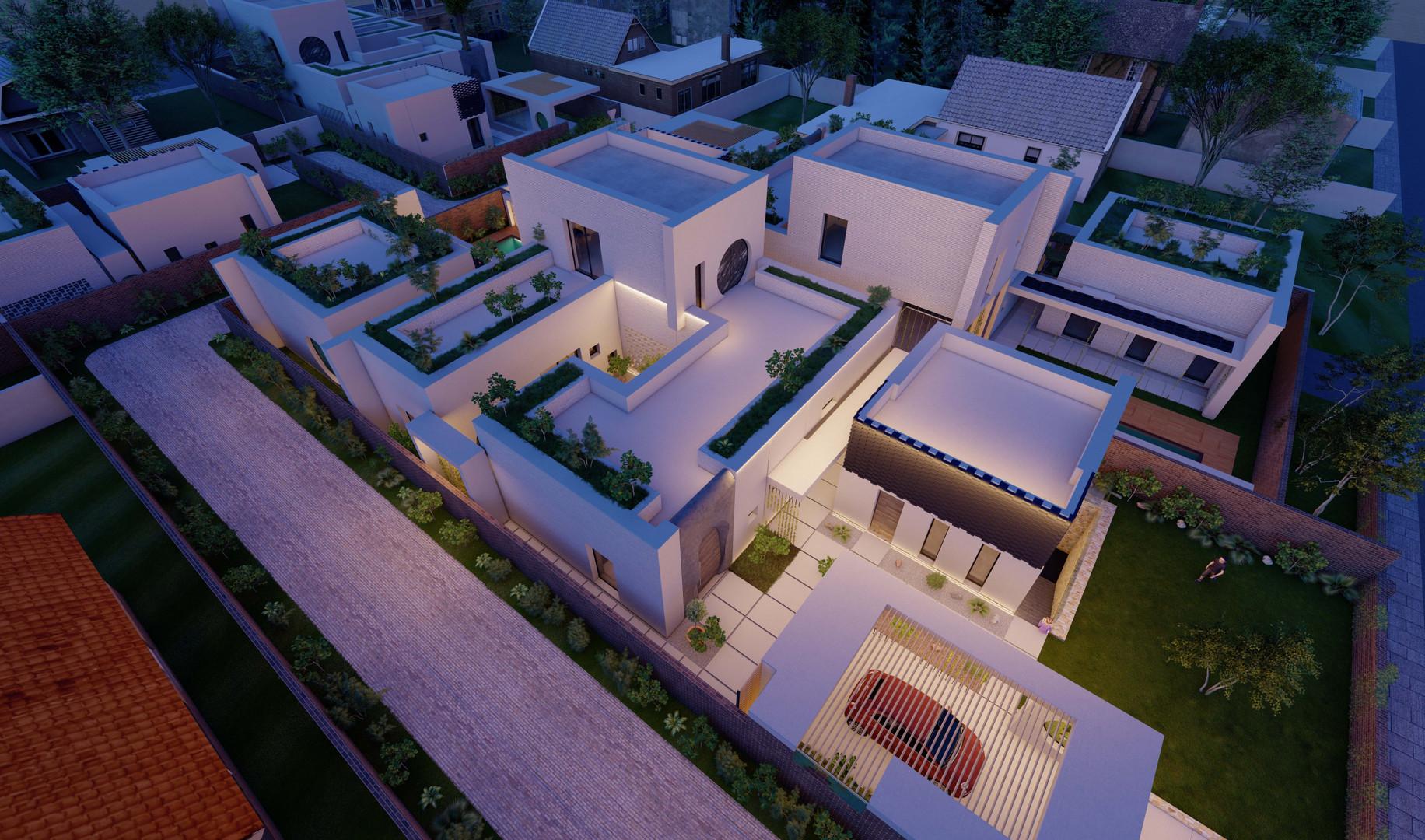 4 Houses_Night