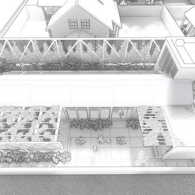 House Meyer Concept Sketch