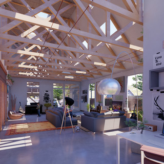 George Development Living Room/Work Studio