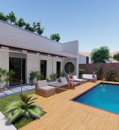 Pool + Garden Area