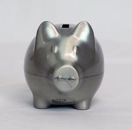 Small Pewter Piggy Bank