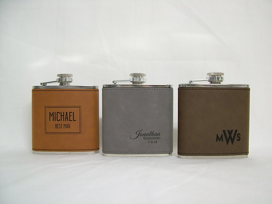 Stainless Flask with Leatherette