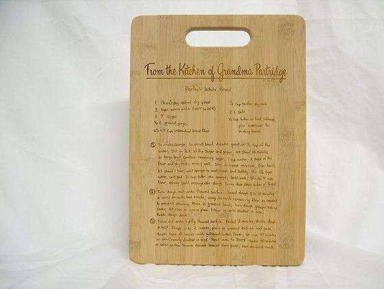 Recipe Cutting Board - 10x14 Rectangle