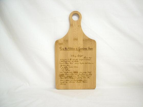 Recipe Cutting Board - Paddle