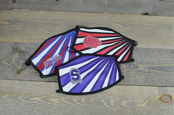 Bold Stripe Design Mask with School Logo
