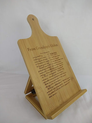 """Recipe Cutting Board - Small Easel 7 1/4"""" x 13 1/2"""""""