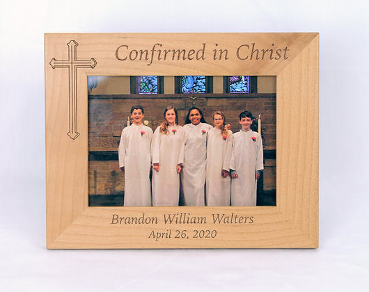 5x7 Wooden Confirmation Frame