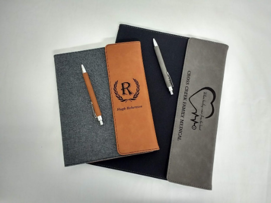 Canvas/Leatherette Padfolio with Matching Pen