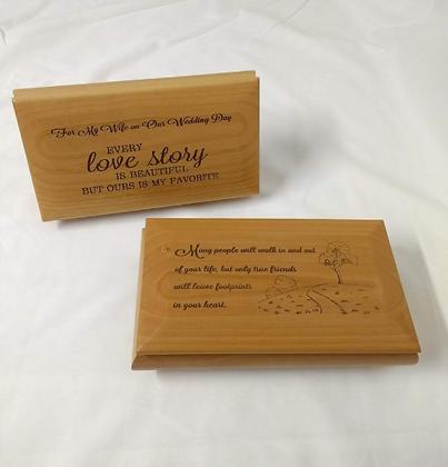 Large Engraved Red Alder Footed Box
