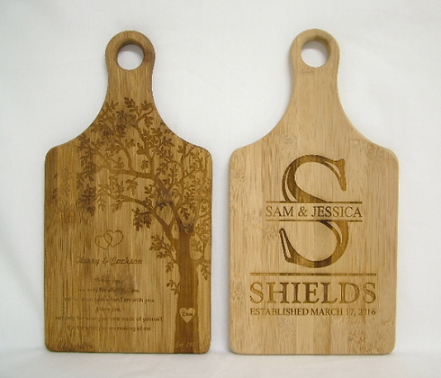 Bamboo Paddle Cutting Board
