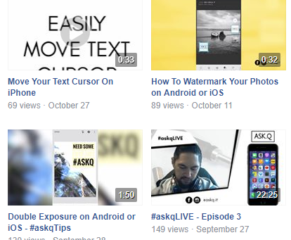 Quick Tip Videos on Facebook