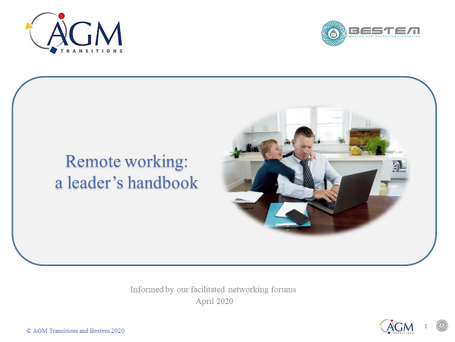 Remote working - a leader's handbook