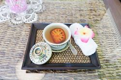 Tee nach der Massage