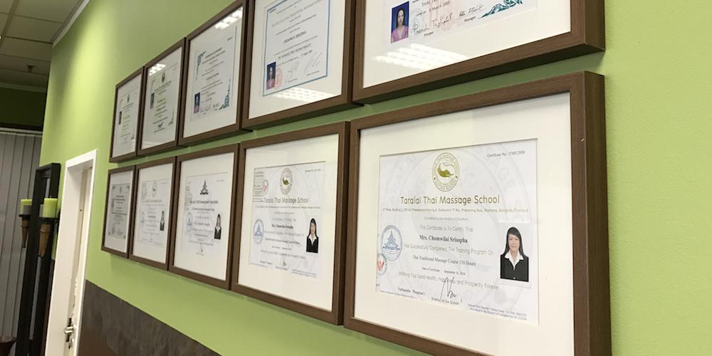 Zertifikate Masseurinnen
